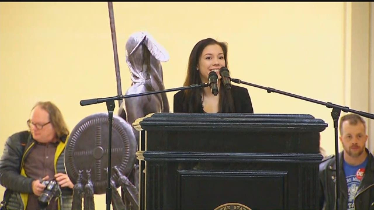 WEB EXTRA: Enid Student Speaks Out For 'Step Up Oklahoma'