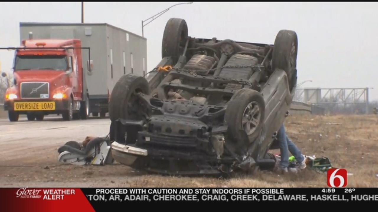 One Injured In 3-Vehicle Crash On 75 & Peoria