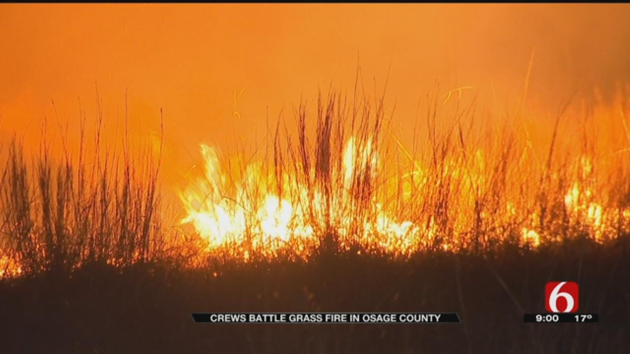 Grass Fire Reignites In Osage County