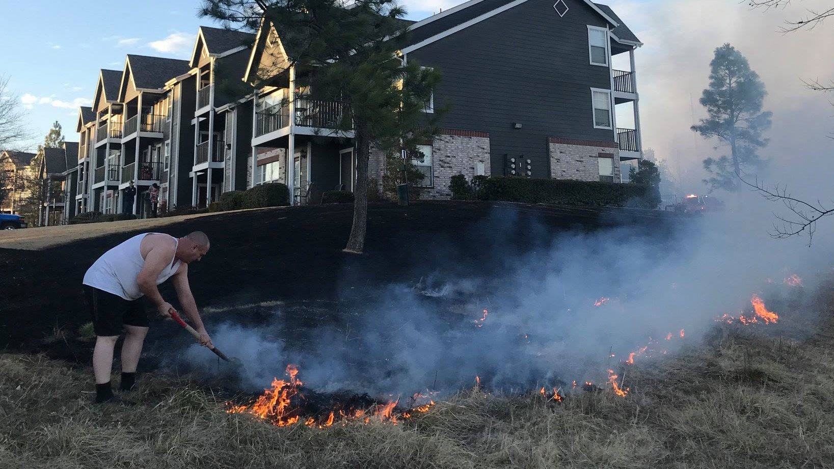 Owasso Apartments Threatened By Grass Fire