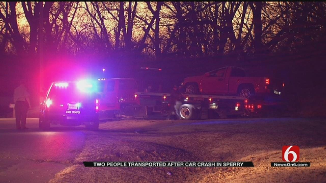 Two Hospitalized After Sperry Crash