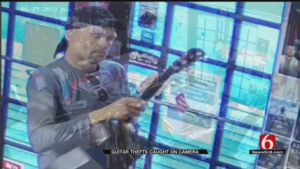 TPD On Lookout For Man Who Stole Guitars From Shop