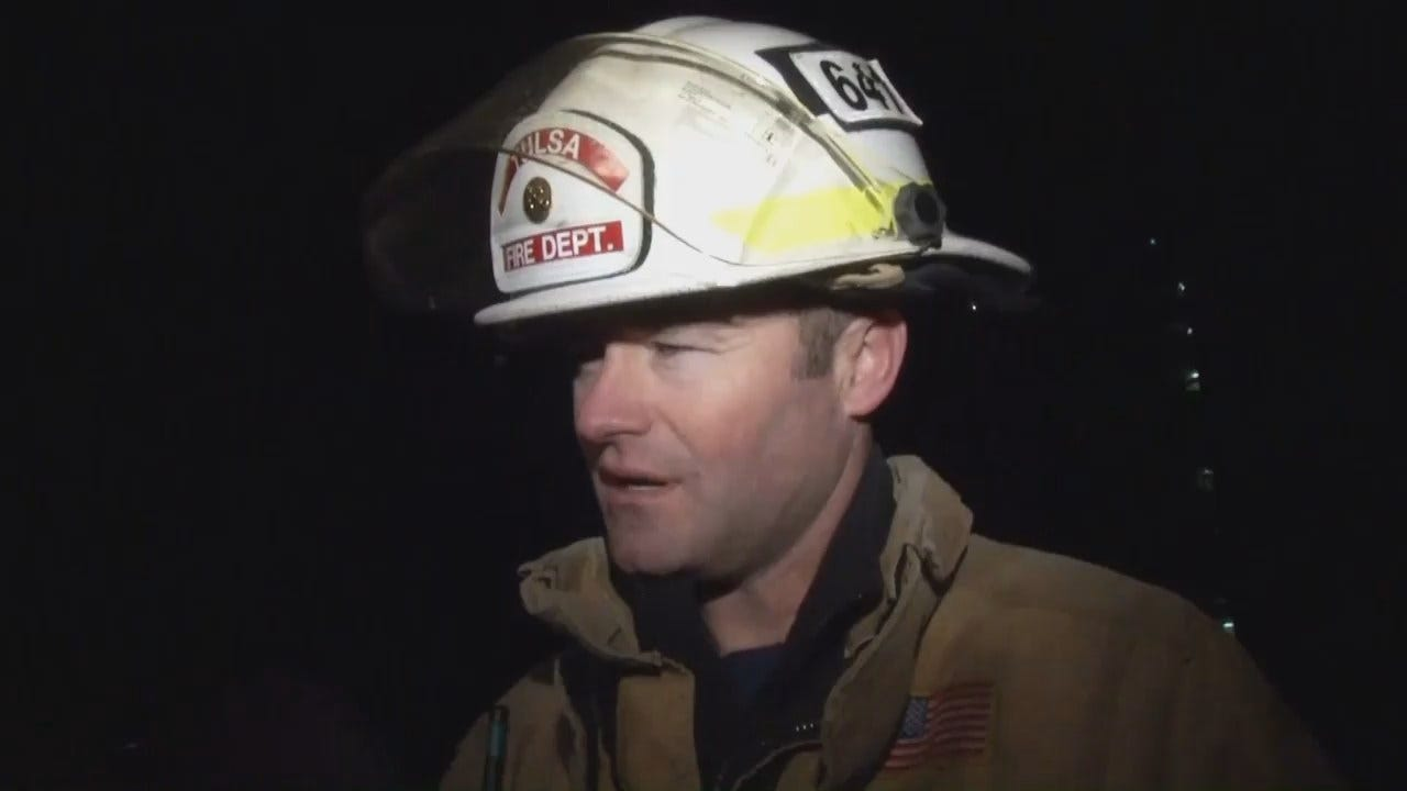 WEB EXTRA: Tulsa Fire District Chief Jason Gilkison Talks About Apartment Fire