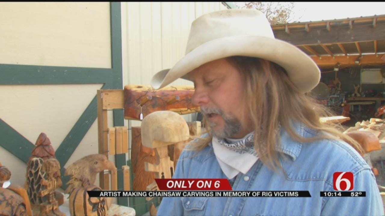 Oklahoma Wood Carver Continues To Honor Victims Of Gas Rig Explosion