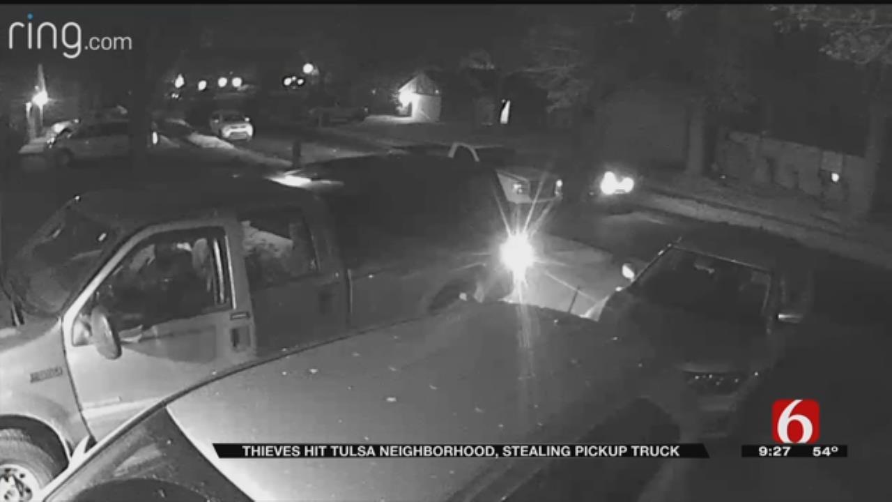 Tulsa Thieves Raid Neighborhood, Steal Truck