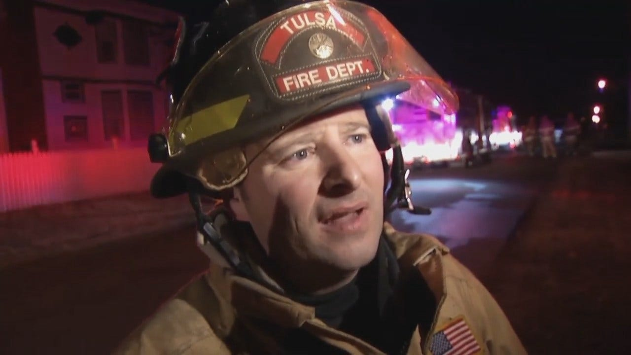 WEB EXTRA: Tulsa Fire Captain George Surrell Talks About House Fire