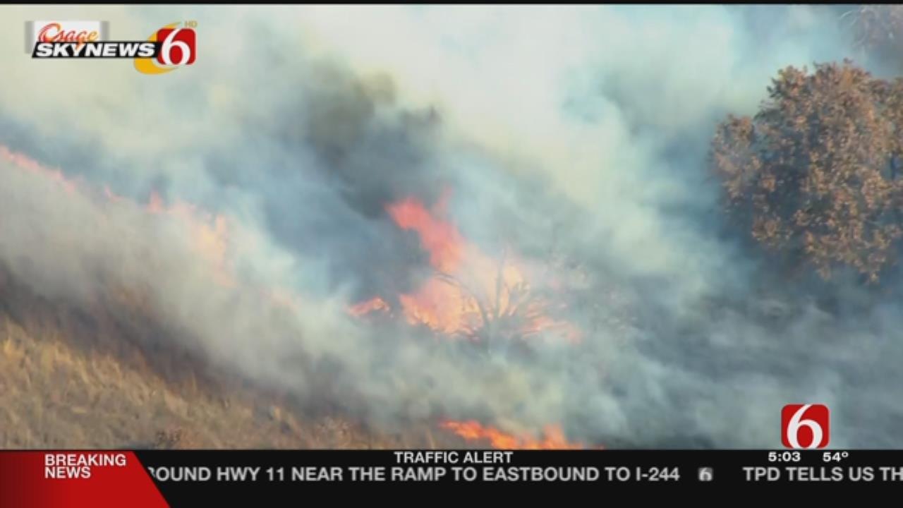 Multiple Departments Fight Grass Fires Near Kellyville