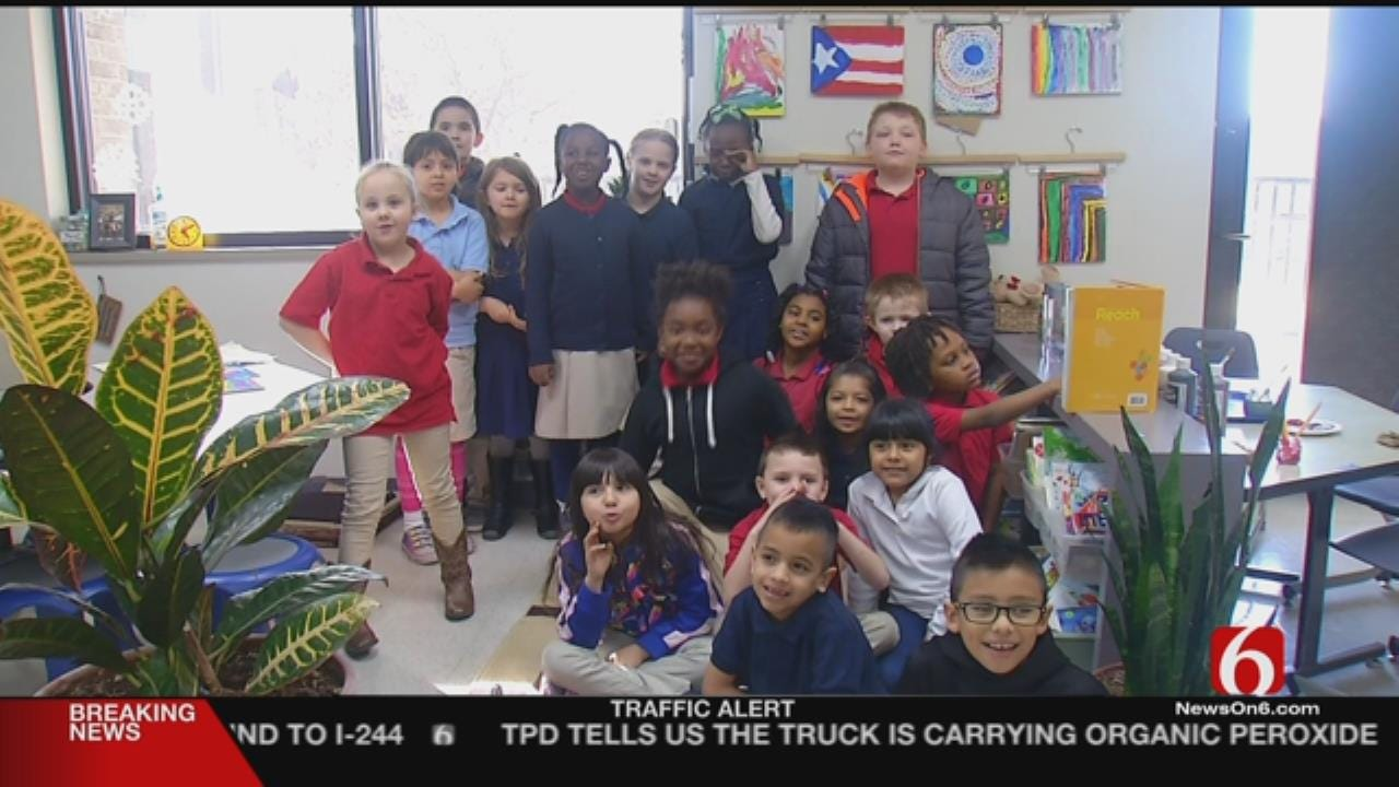 Tulsa Elementary Students Paint For Puerto Rico