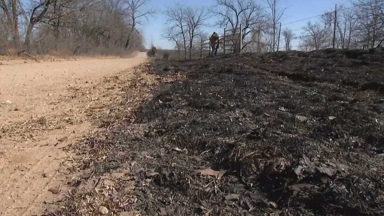WEB EXTRA: Video From Scene Of Okmulgee County Wildfires
