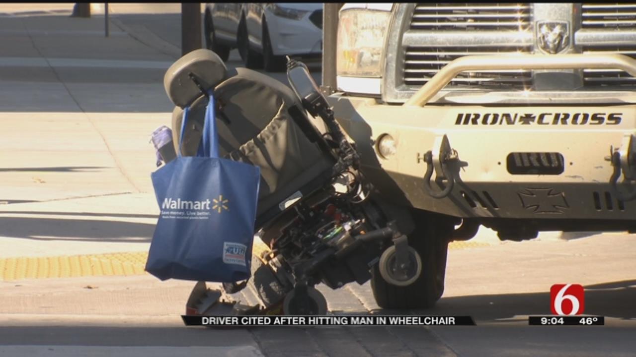 Man In Wheelchair Hit By Truck