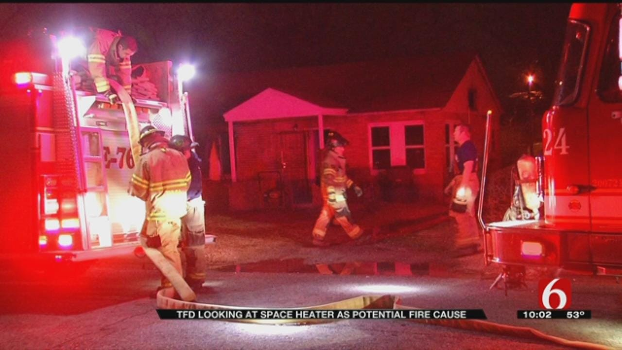 Space Heater Possible Cause Of House Fire, TPD Says