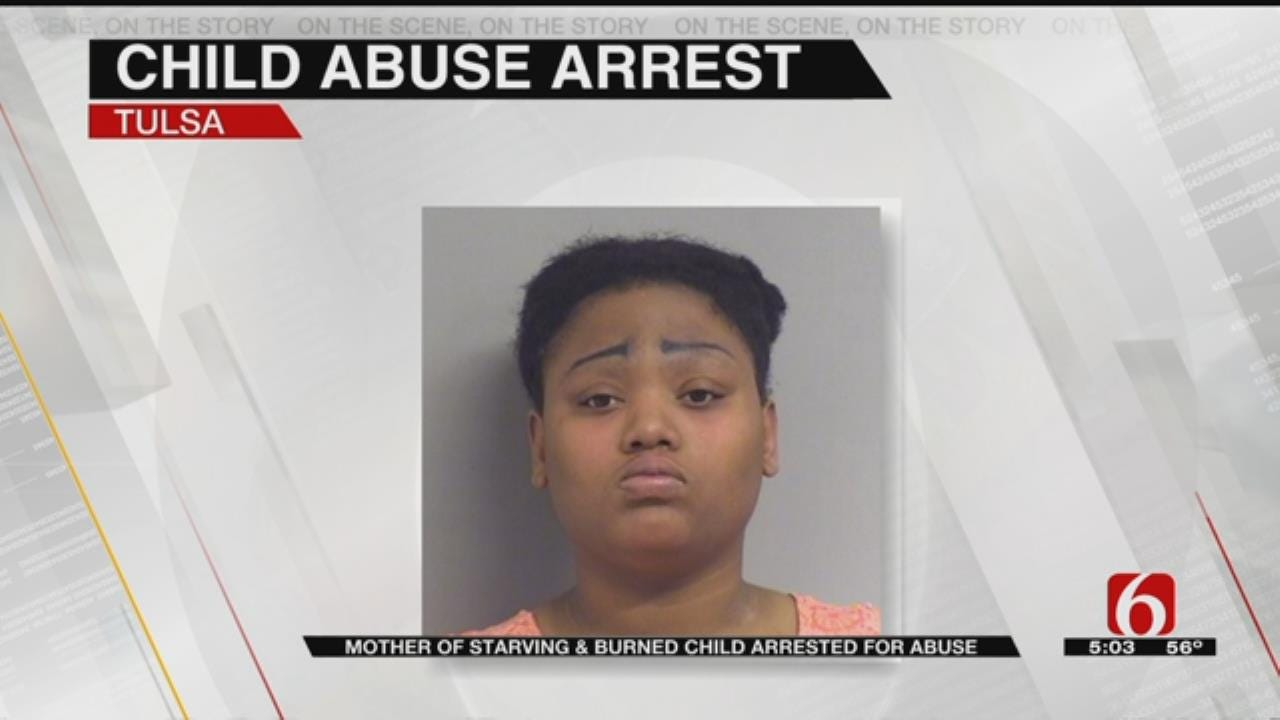 Police: Mother Of Emaciated, Burned & Bruised Tulsa Child Arrested