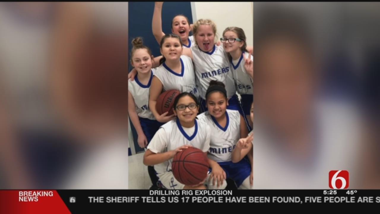 Hartshorne 5th Grader Gets Her First Basket In Championship Game