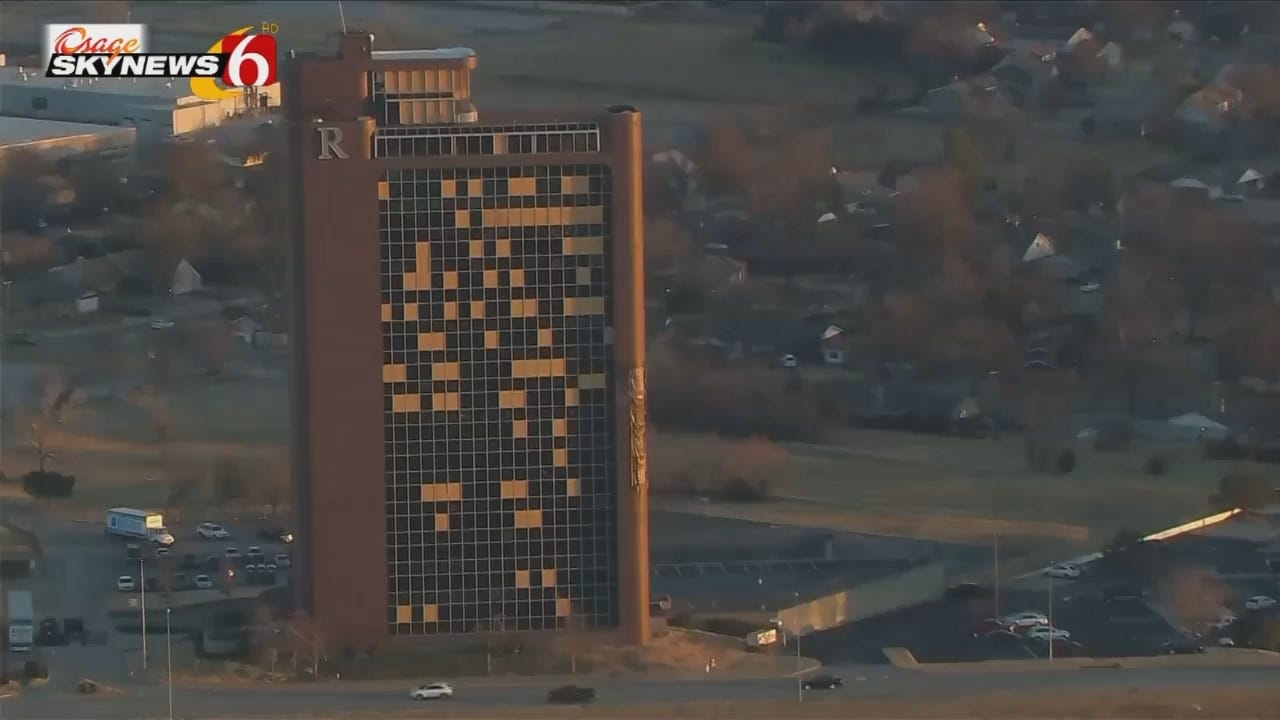 WEB EXTRA: Video Of Tulsa's Remington Tower Building From Osage SkyNews 6 HD