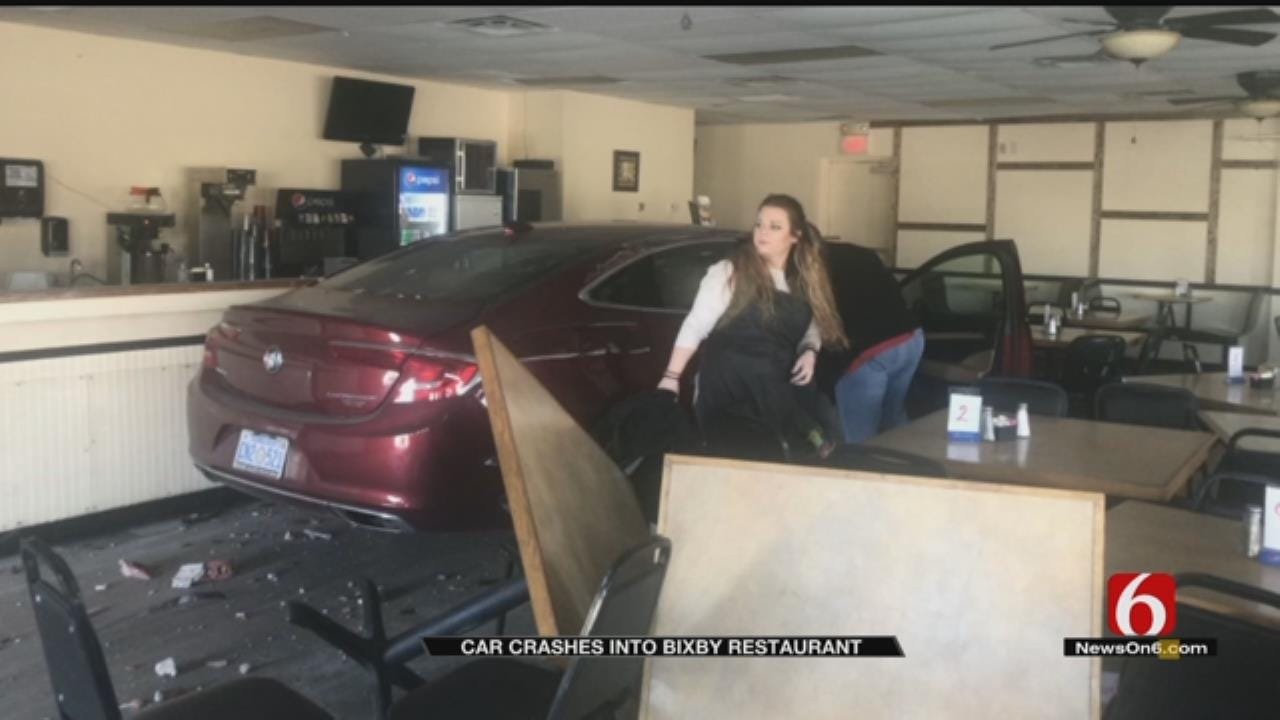Car Plows Into Bixby Restaurant Days After It Re-Opened After Flood