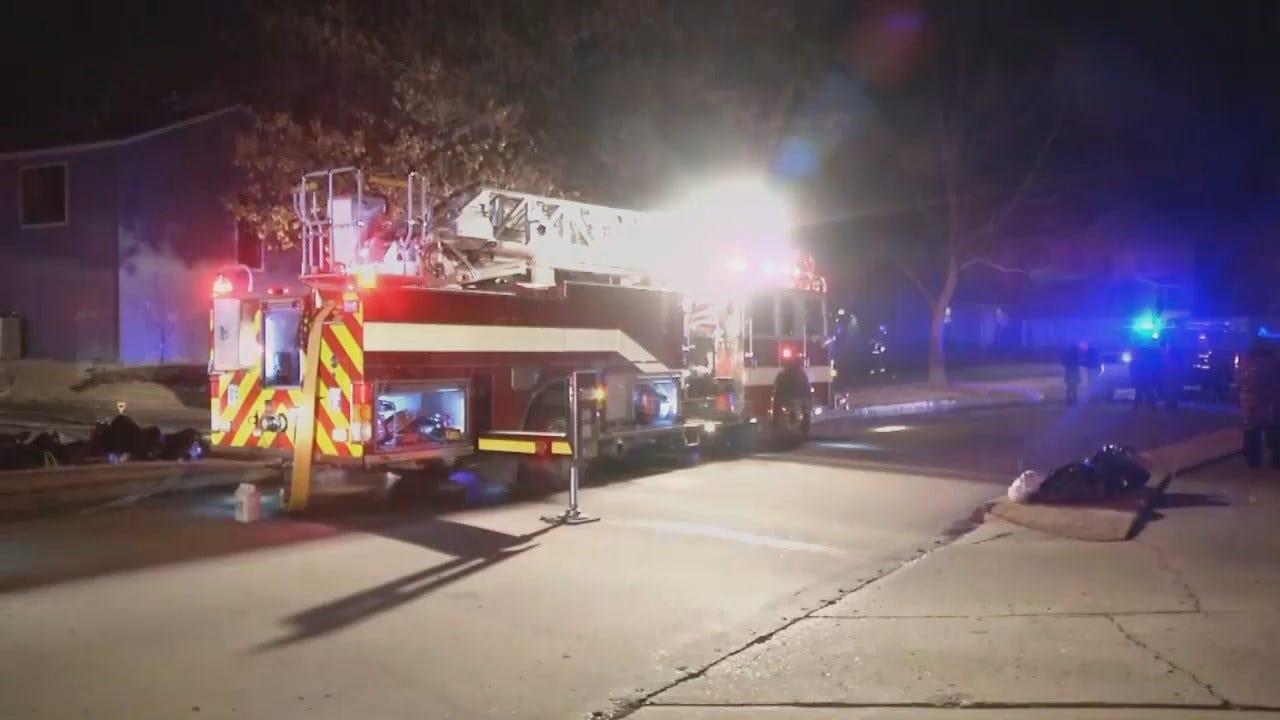 WEB EXTRA: Video From Scene Of Broken Arrow Condo Fire