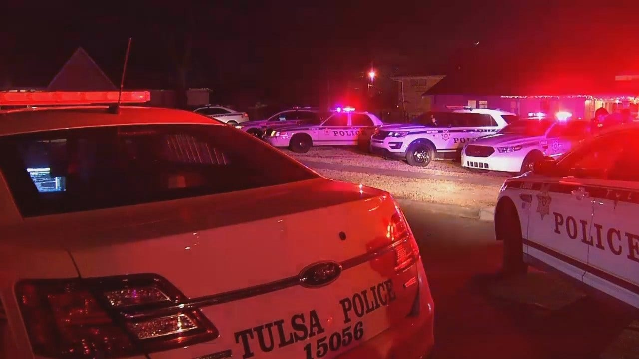 WEB EXTRA: Video From Scene Of False Shooting Call At A Tulsa Home
