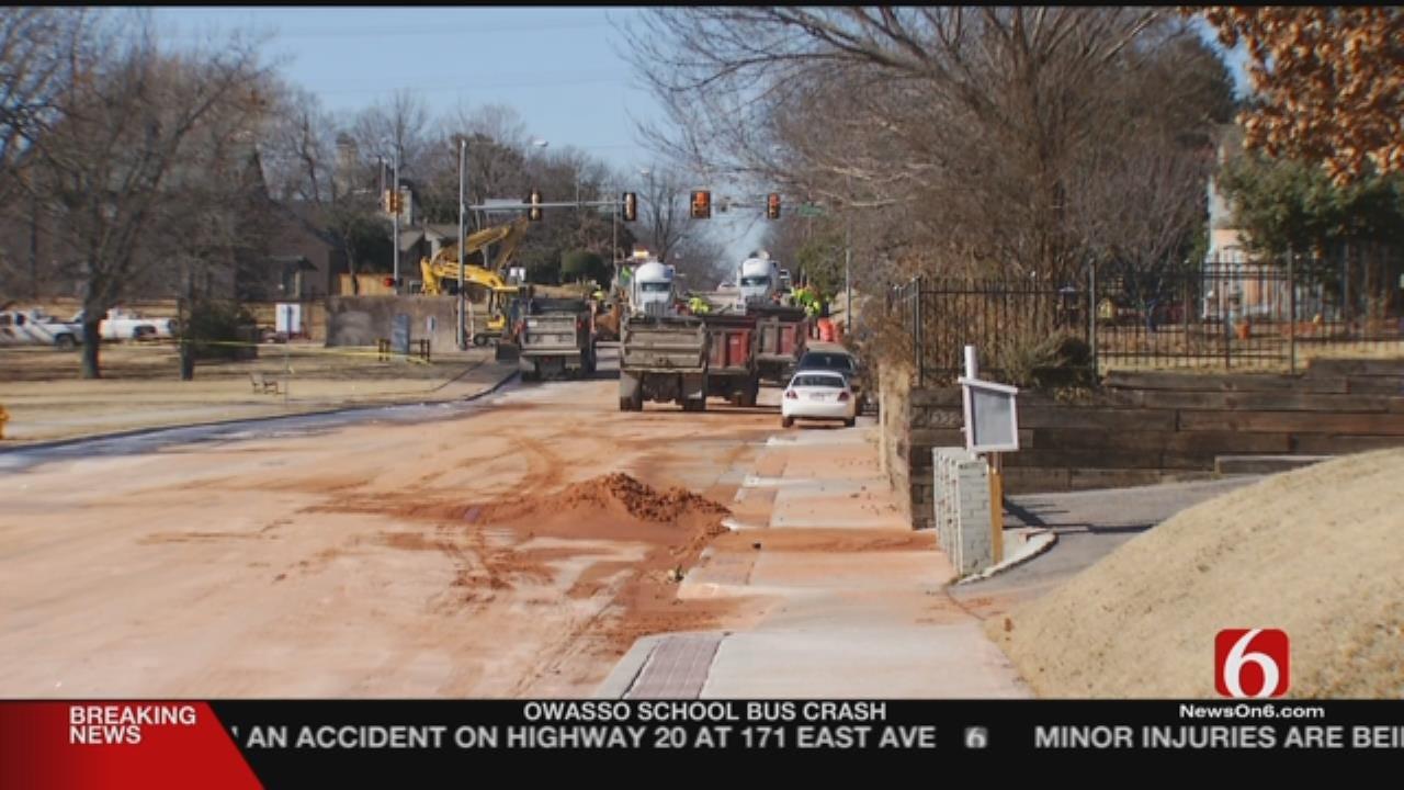 21st Street Water Line Construction Worries Tulsa Resident