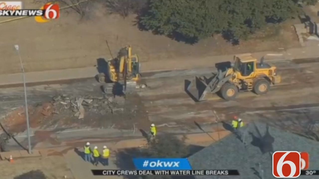 Dave Davis Has The Latest On 21st And Peoria Water Main Break