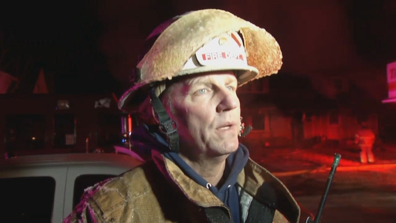 WEB EXTRA: Tulsa Fire District Chief Jon Steiner Talks About The Fire