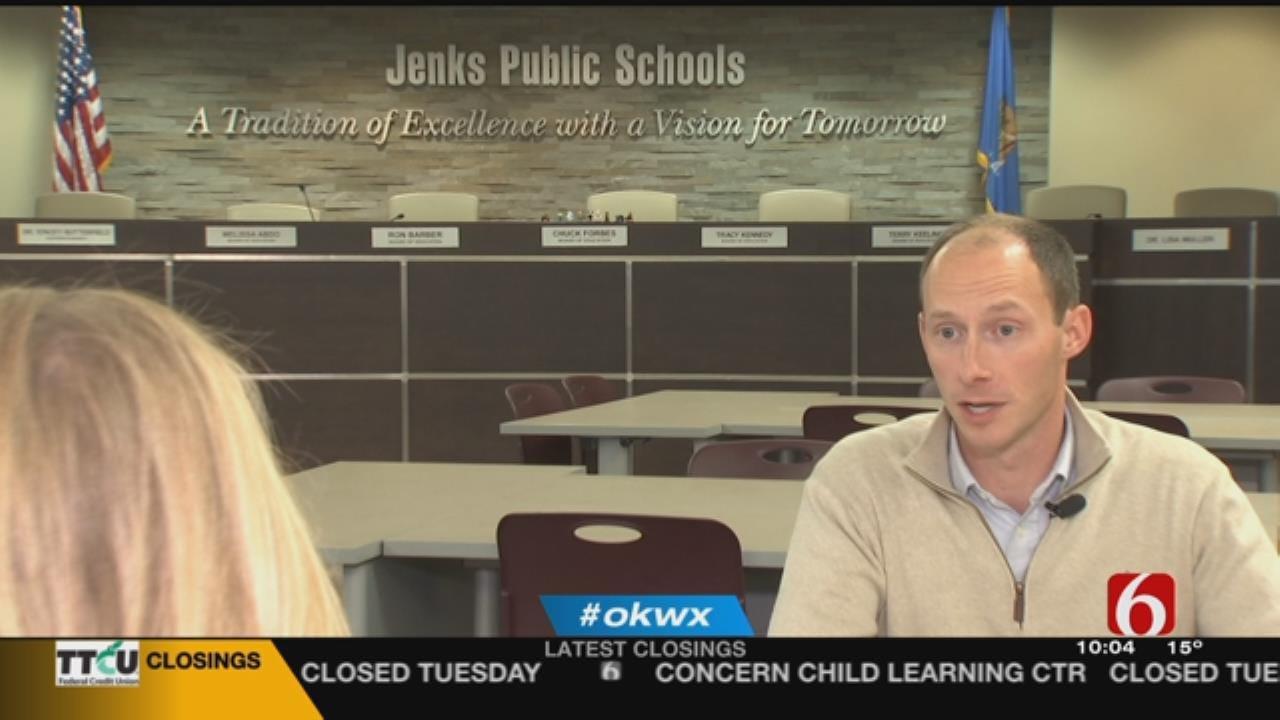 Jenks Schools In Session Despite Bitter Cold