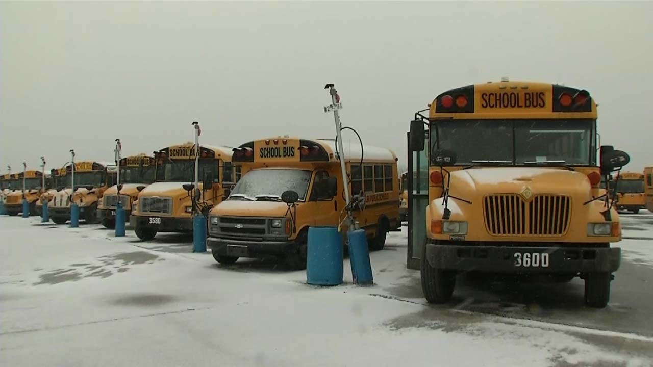 Decision To Close For Cold Weather Up To Each Oklahoma District