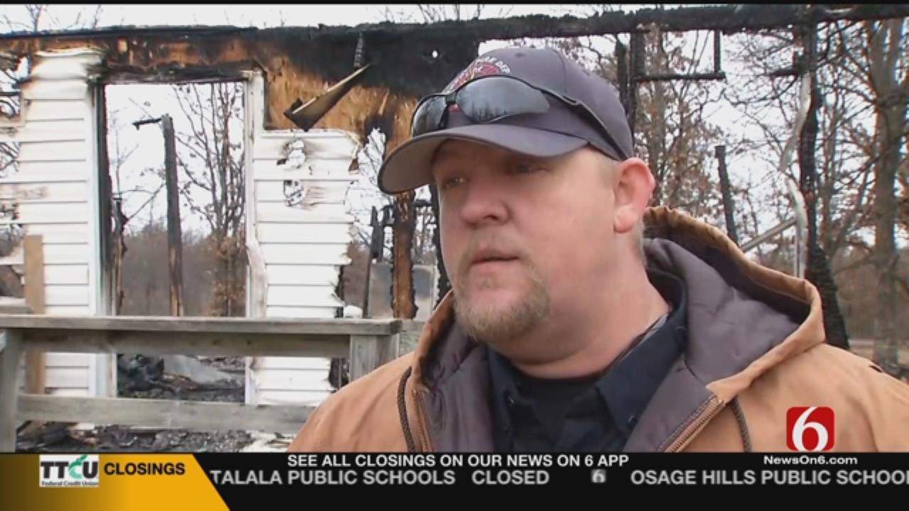Fire Destroys Home Of Volunteer Firefighter
