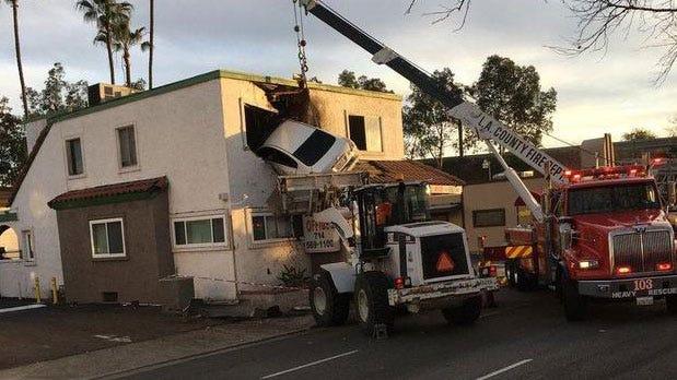 Speeding Car Goes Airborne, Crashes Into Second Floor Of California Building