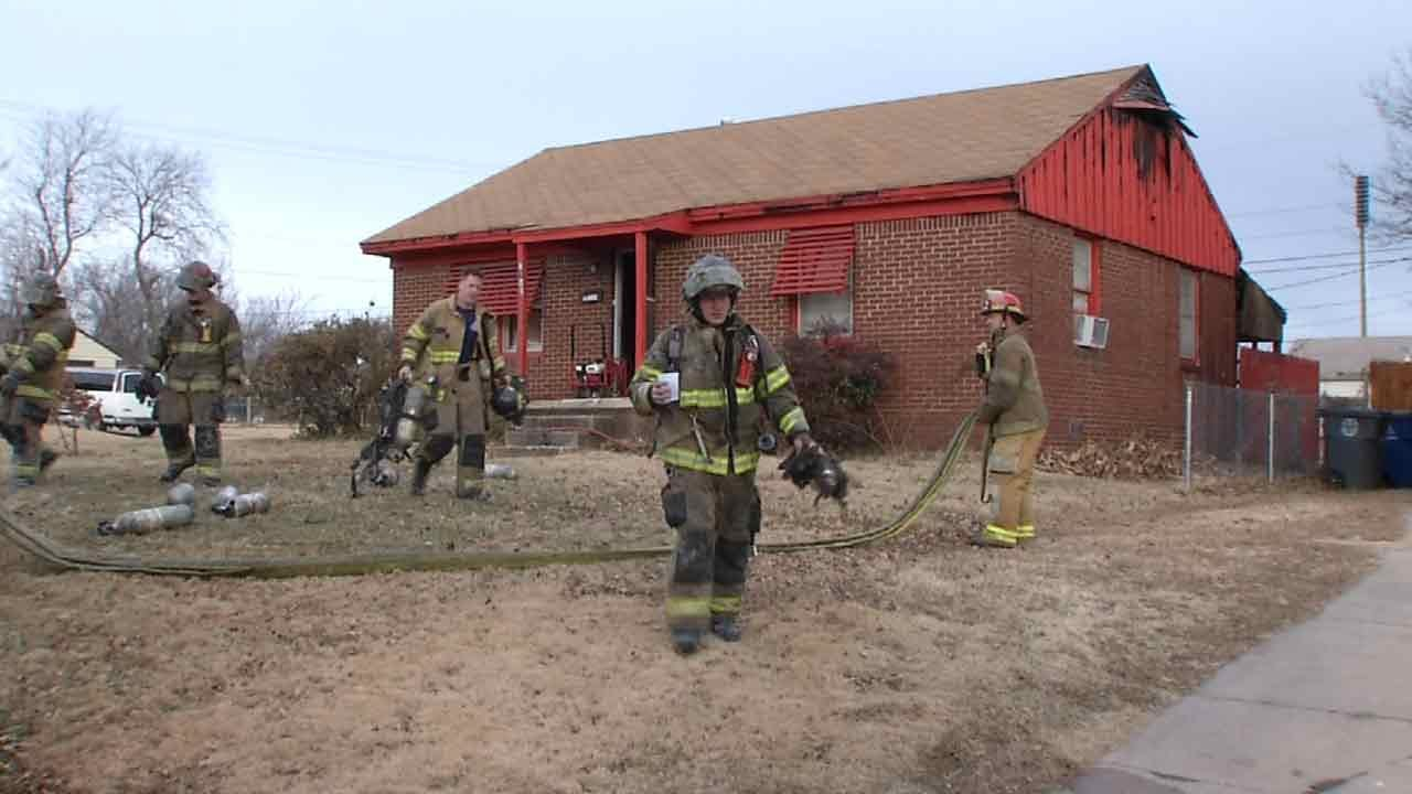 Residents Safe After Tulsa House Fire, Crews Say
