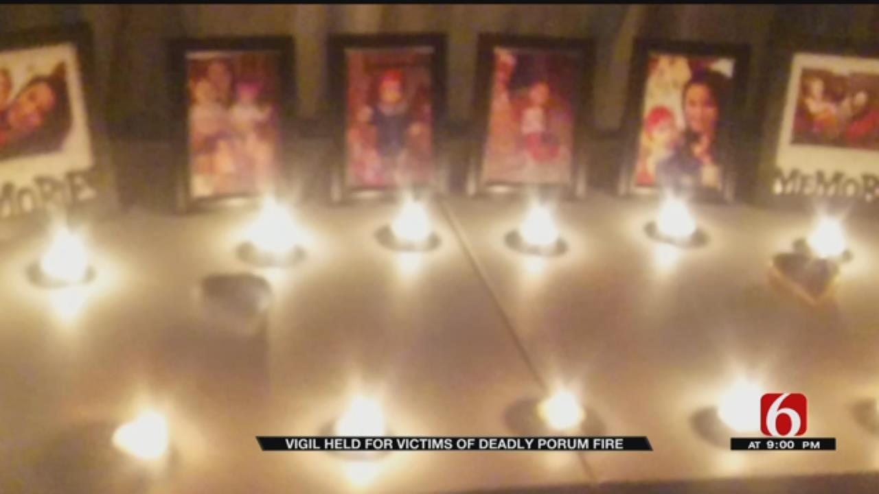 Vigil Held For Porum House Fire Victims