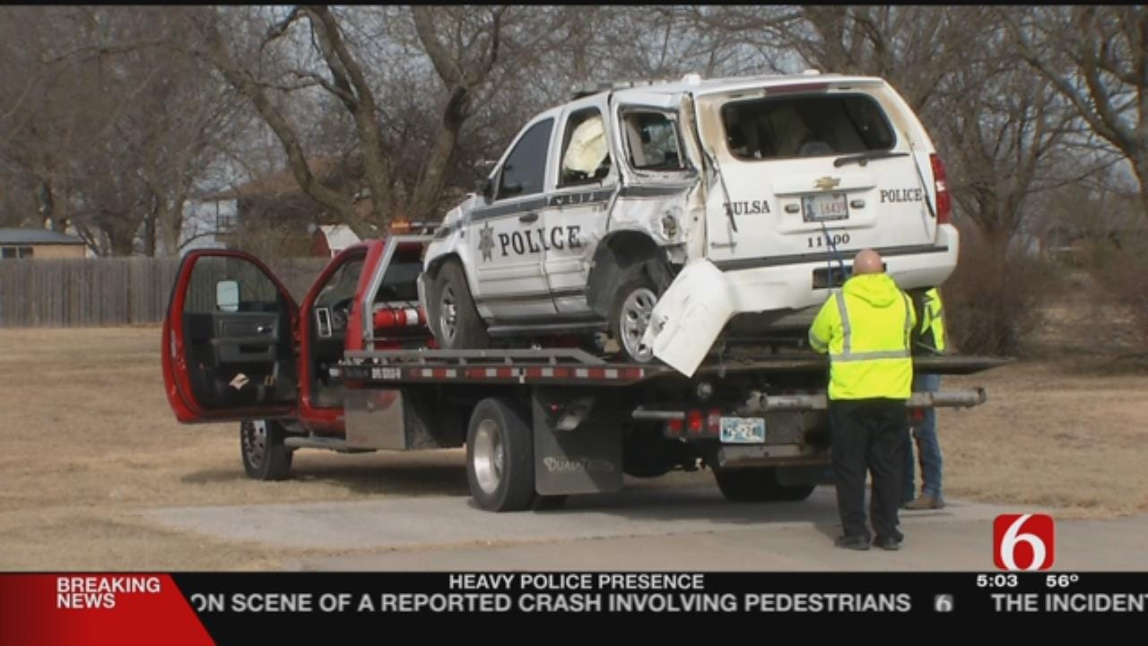 Tulsa Police Officers Involved In Rollover Crash
