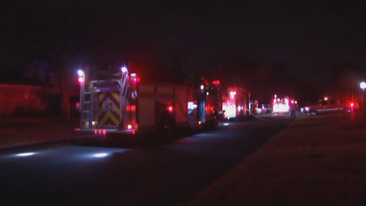 WEB EXTRA: Video From Scene Of Tulsa Fatal Fire