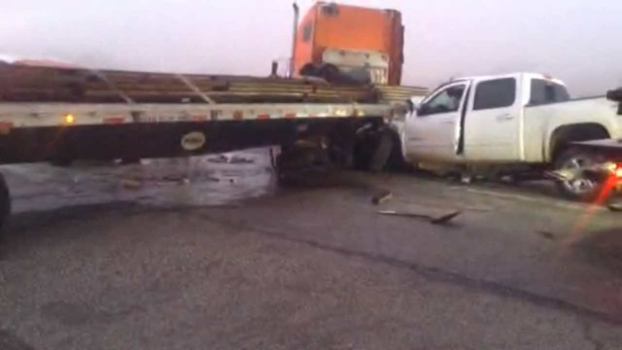 WEB EXTRA: Fog Blamed For Muskogee Crash That Hurt 3 People
