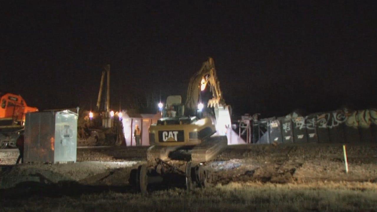 WEB EXTRA: Video From Scene Of Tulsa Train Derailment
