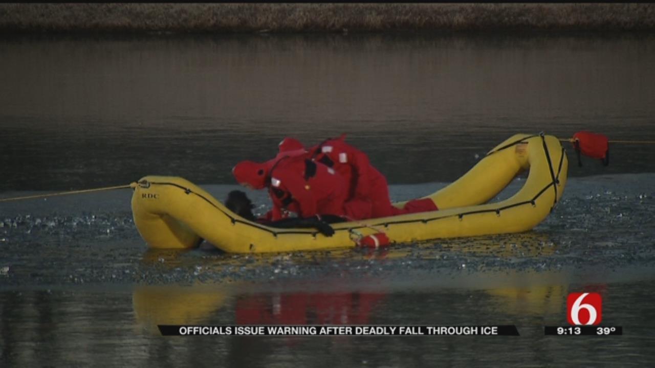 Family Friend Identifies Man Who Fell Through Frozen Catoosa Pond