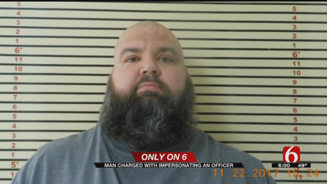 Coweta Man's Police Impersonator Charge Upgraded To Felony