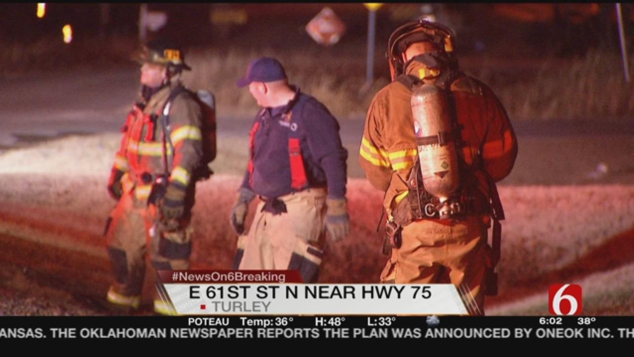 Tulsa, Turley Firefighters Battle Early Morning Blaze