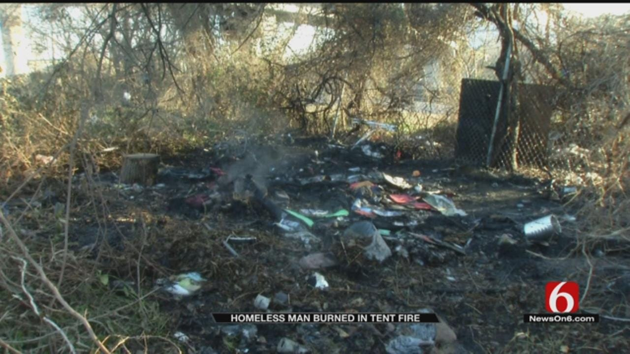 Man Burned In Homeless Camp Near Tulsa Highway Bridge