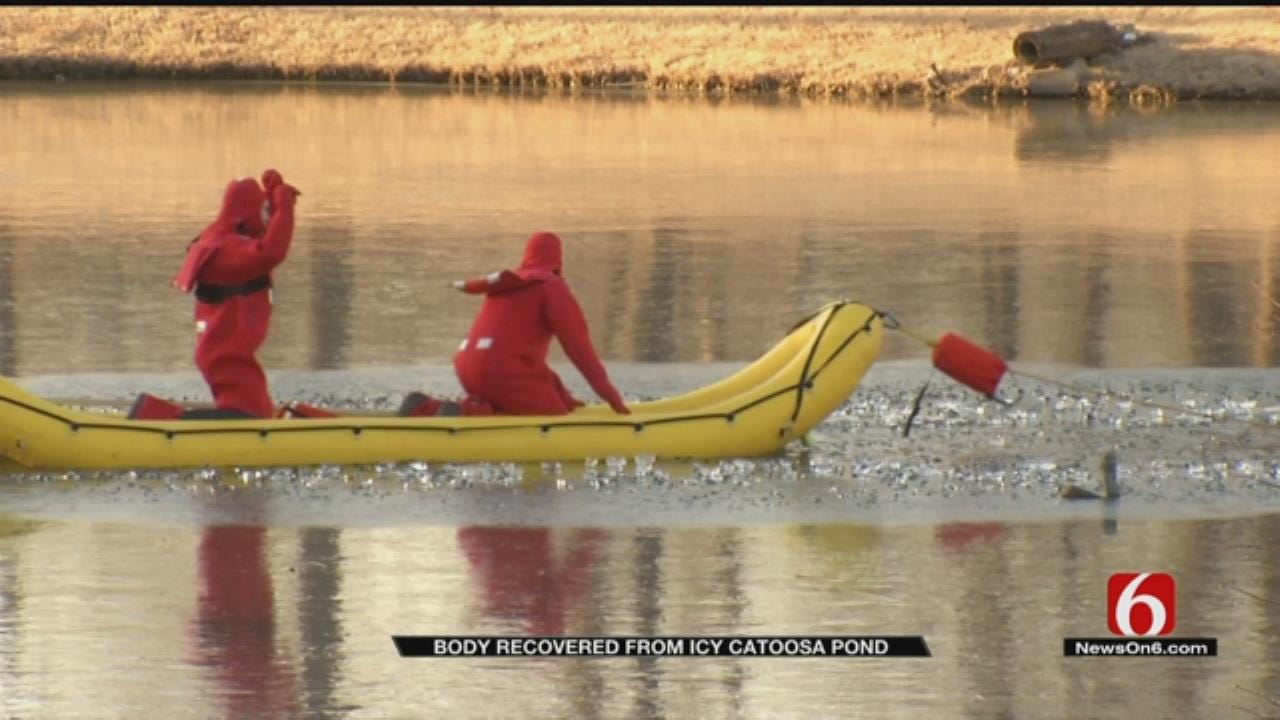 Man's Body Recovered From Ice-Covered Catoosa Pond