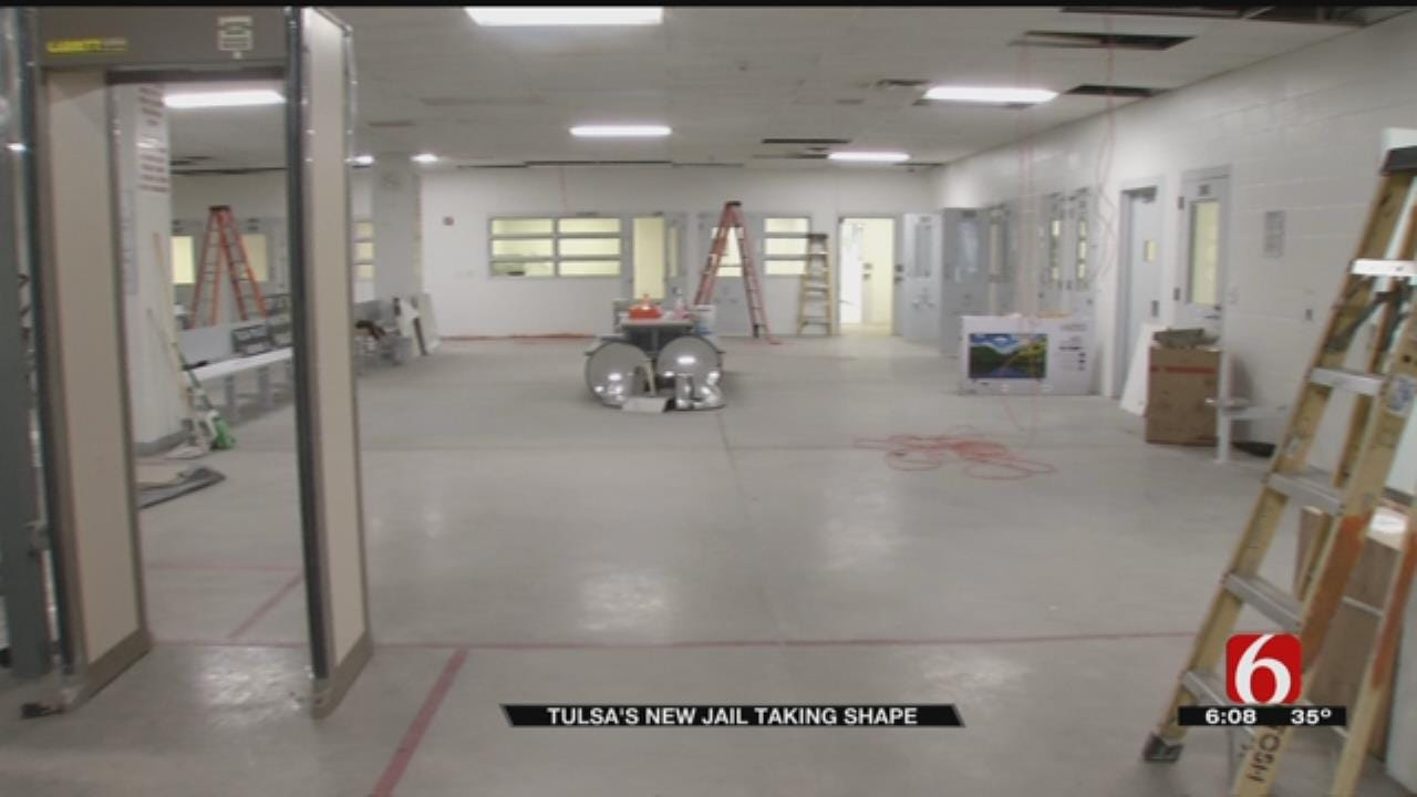Construction Continues As Tulsa City Jail Takes Shape