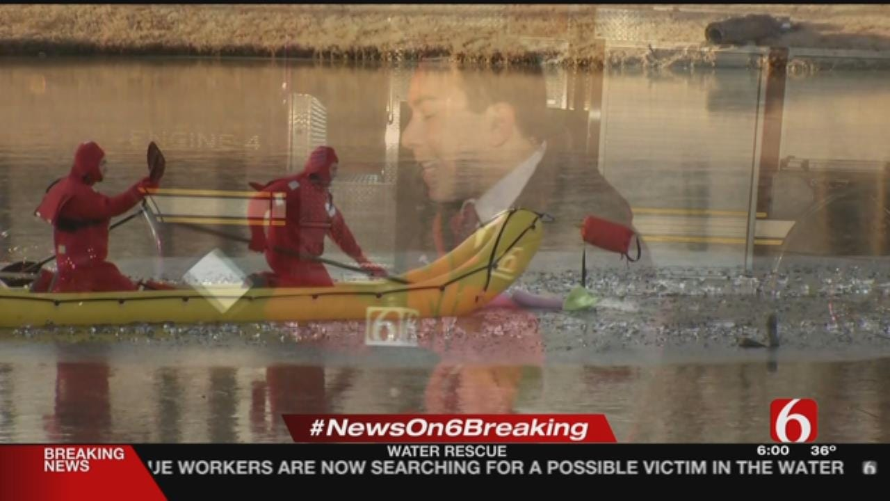 Firefighters Called To Frozen Catoosa Pond For Rescue