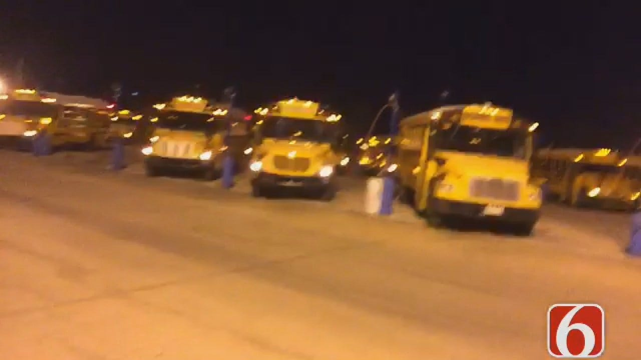 Dave Davis Reporting TPS Drivers Got Up Early To Warm Up School Buses