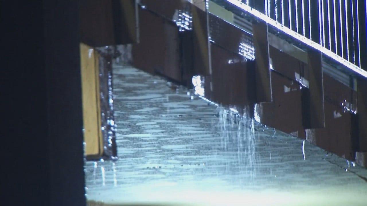 WEB EXTRA: Video From Water Damage At Tulsa's Garnett Inn