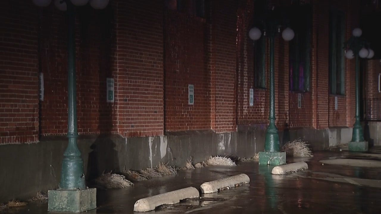 WEB EXTRA: Video Of Water Flowing Out Of Closed Downtown Tulsa Restaurant