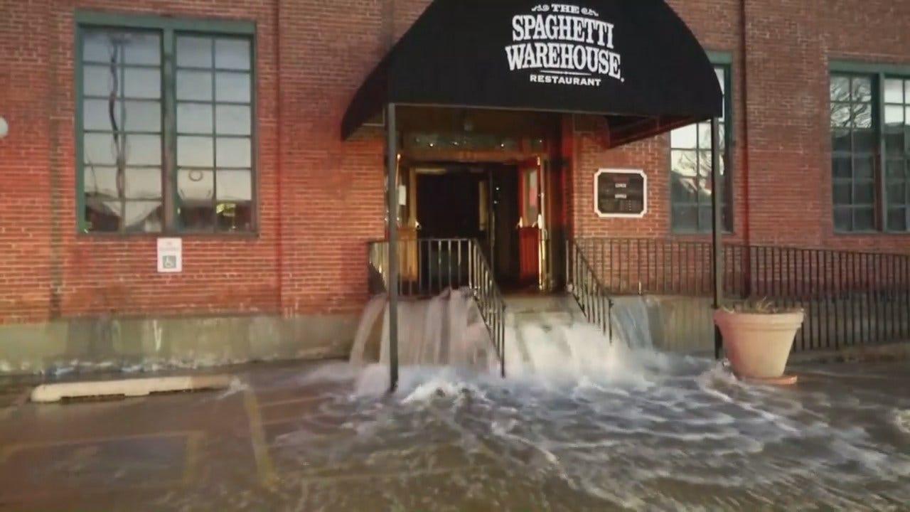 WEB EXTRA: Tulsa Firefighters Open Restaurant's Front Doors