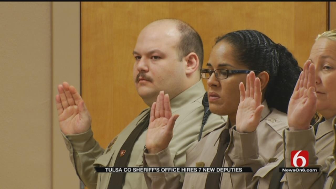 7 New Deputies Sworn In For Tulsa County Sheriff's Office