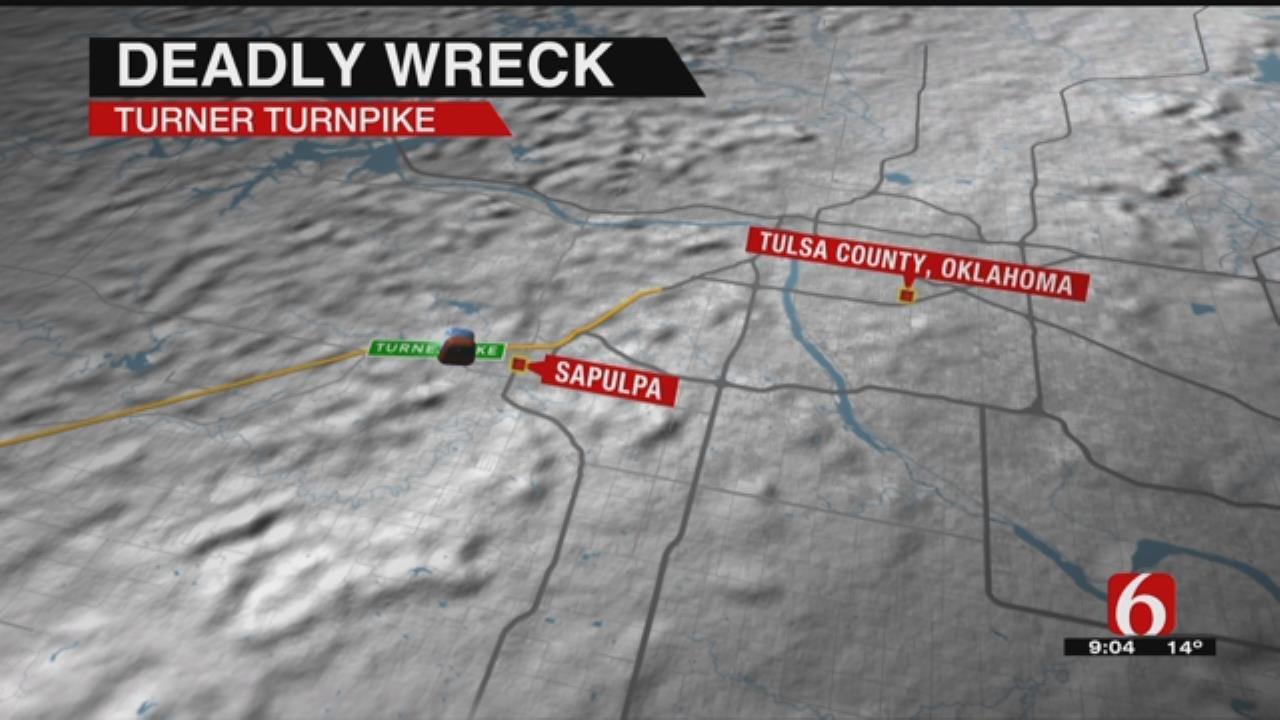 One Man Dead After Turner Turnpike Wreck