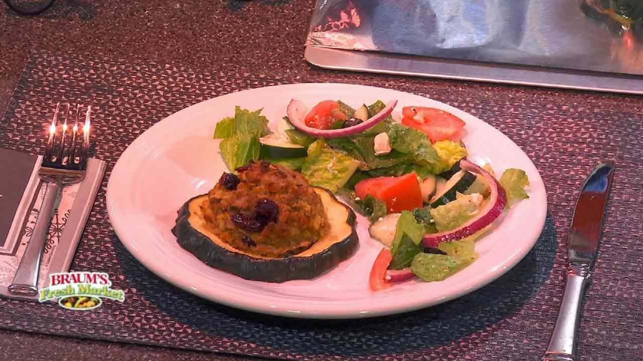 Turkey Stuffed Acorn Squash