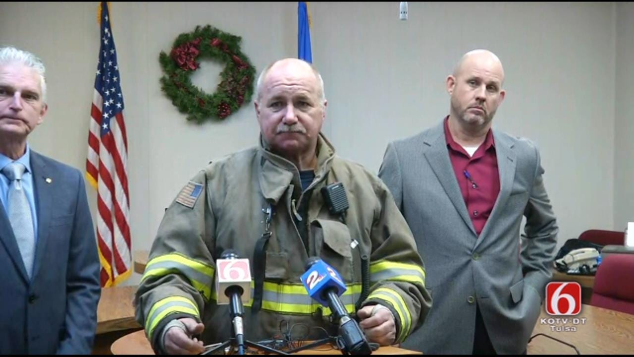 WEB EXTRA: City Of Wagoner News Conference On Downtown Fire
