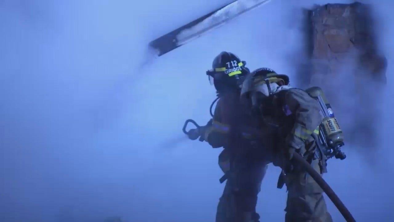 WEB EXTRA: Video From Scene Of Skiatook Duplex Fire